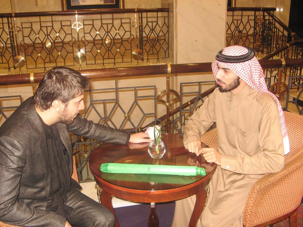 صورة مقابلتي مع الفنان سامي يوسف